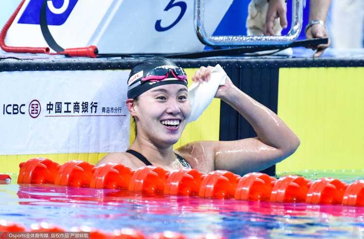 傅园慧100米仰泳冠军,洪荒少女以59秒84的成绩获得金牌!